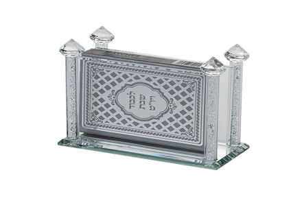 Picture of #1006 Match Box Holder crystal with crushed stones